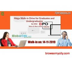 Mega Walk-in Drive for Graduates and Undergraduates as BPO Executives by MNC BPO Clients on 14th Nov