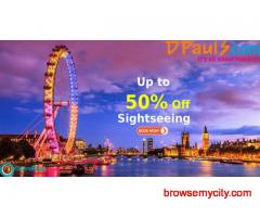 Dpauls Coupons, Deals & Offers: Up to 50% Off Sightseeing