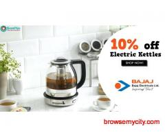 10% off Electric Kettles at Bajajelectricals