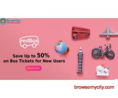 redBus Coupons, Deals & Offers: Save Up to 50% on Bus Tickets for New Users