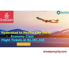 Emirates Coupons, Deals: Hyderabad to Mexico City (MEX) Economy Class Flight Tickets at Rs.