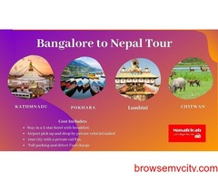 Bangalore to Nepal tour package, Nepal tour package from Bangalore