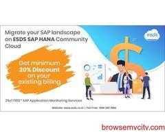 Migrate your SAP landscape on ESDS SAP HANA Community Cloud