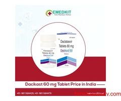Dacikast 60 mg Tablet price in India - Emedkit
