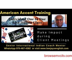 Online American Accent & Voice & Accent Training with Beejay