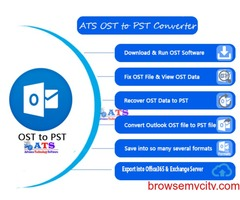 Easy way to Access Offline OST File into Outlook PST file