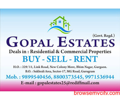 2bhk at Sector 7 gurgaon near Bus Stand 9899540456