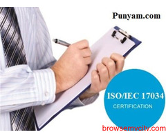 Consultancy Services for ISO 17034 Certification in India