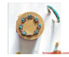 Shop beautiful silver bracelet for girls online at Chokha Haar