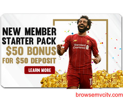 NEW MEMBER STARTER PACK! $50 BONUS FOR $50 DEPOSIT