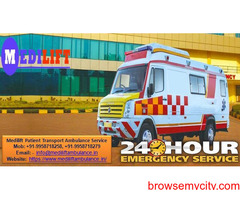 Get Medilift Road Ambulance Service in Ramgarh with Complete ICU Facility