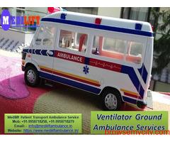 Get Medilift Ventilator Ambulance Service in Varanasi for Transportation Facility