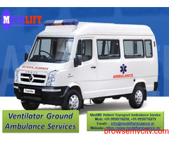 Get Medilift Ground Ambulance Service in Ranchi for Patient Transportation