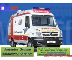 Get Medilift Ground Ambulance Service in Bokaro for ICU Patient Transportation