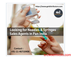 Looking for Needles & Syringes Sales Agents in Pan India