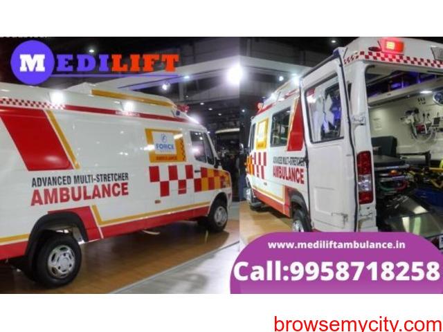 Book Medilift Low Fare Ambulance Service in Kidwaipuri - 1/1