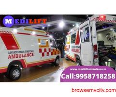 Book Medilift Low Fare Ambulance Service in Kidwaipuri