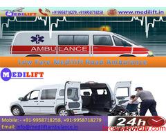 Avail ICU Setups Ambulance Service in Anishabad by Medilift
