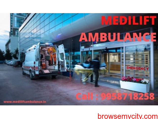 Quick Patient Transfer Medilift Ambulance Service in Sipara - 1/1