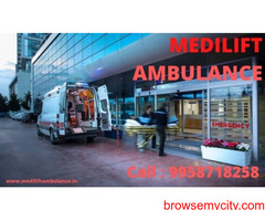 Quick Patient Transfer Medilift Ambulance Service in Sipara