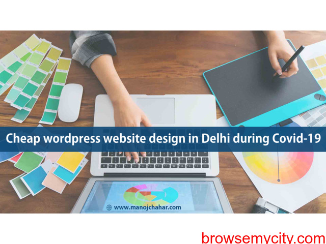 Cheap wordpress website design in Delhi during Covid-19 - 1/1