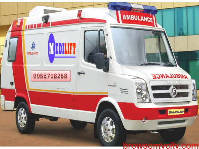 Find the Best and Low-Cost Ambulance Service in Saguna More - 1/1