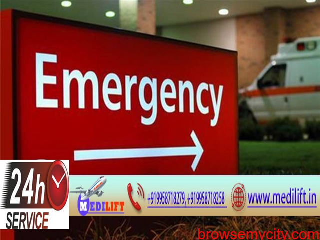 Medilift Ambulance Service in Kankarbagh at very Low-Cost - 1/1