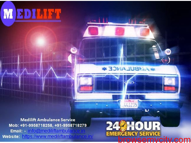 24*7 Hours Medical facilities by Medilift Ambulance Service in Patna - 1/1