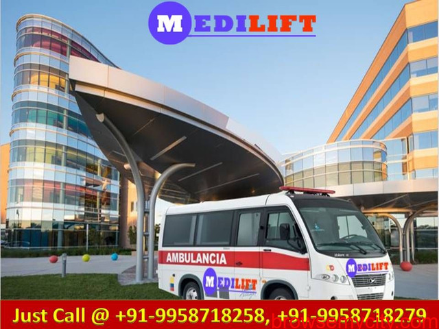 Medilift Ambulance Service in Bokaro with ICU MD Doctors - 1/1