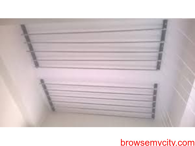 Buy Cloth Drying Roof Hanger Near TSHB Sampoornam Apartments Call 09290703352 - 3/5
