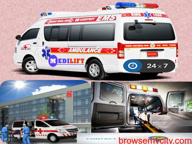 Medilift Ambulance Service in Purnia - Available without any Hidden Cost - 1/1