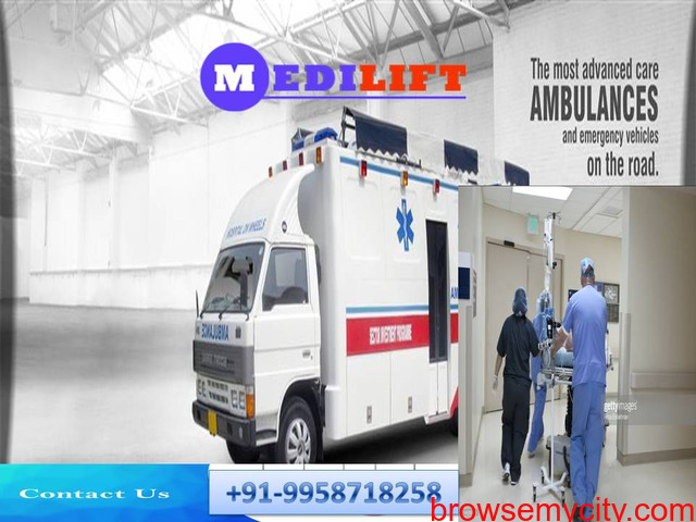 Medilift Ambulance Service in Darbhanga - Get the Advanced Relocation for Sufferer - 1/1