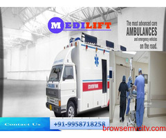 Medilift Ambulance Service in Darbhanga - Get the Advanced Relocation for Sufferer
