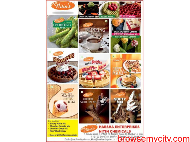 Waffle Premixes, Nuts & Ice Cream Stabiliser Blend, Harsha - 2/3