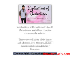 Online Course for Applications of Derivatives Class 12 Maths
