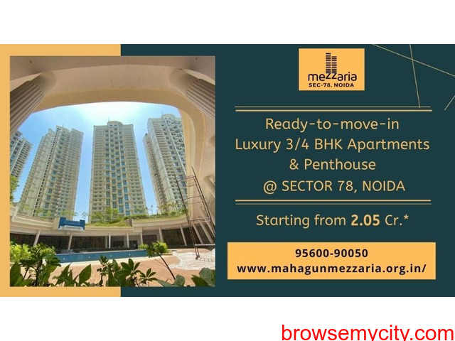 Mahagun Mezzaria Noida  - All your aspirations of a luxurious lifestyle in Noida - 1/1