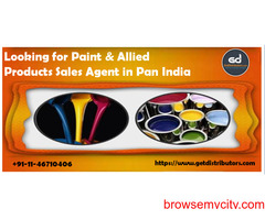 Required Paint & Allied Products Sales Agent in pan India