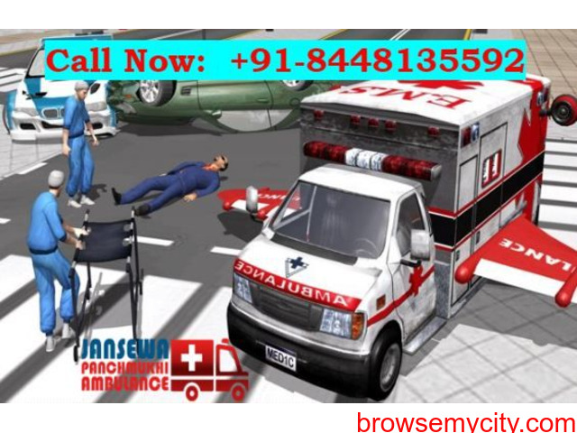 Obtain Ambulance Service in Gandhi Maidan with the Best Medical Team - 1/1