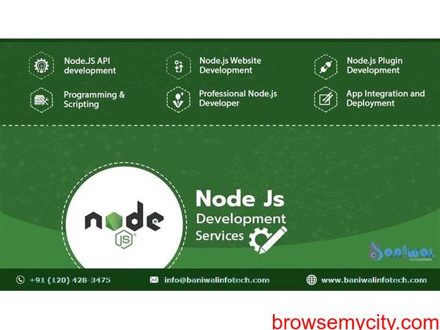 NodeJS Web Development Services Company | Baniwal Infotech - 1/1