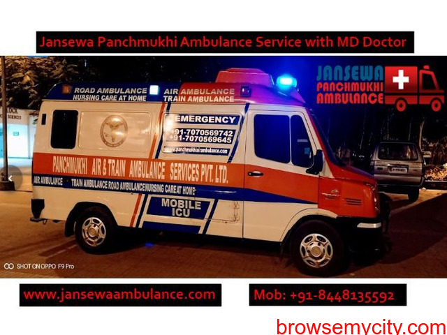 Pick Hi-tech Ambulance Service in Karolbagh with Experienced Medical Team - 1/1