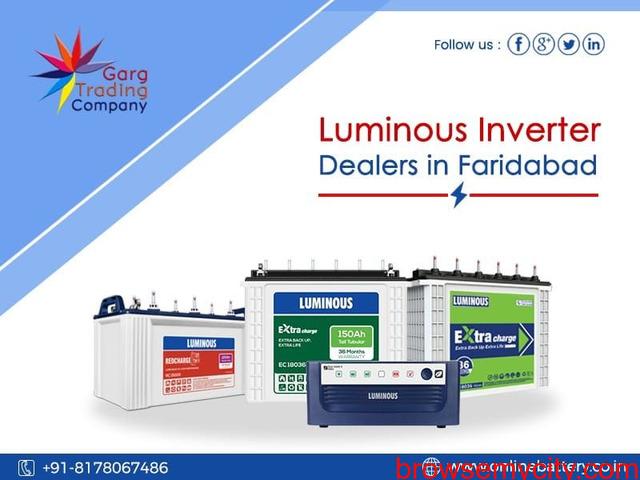 Buy Luminous Inverter Battery Online in Faridabad - 1/1