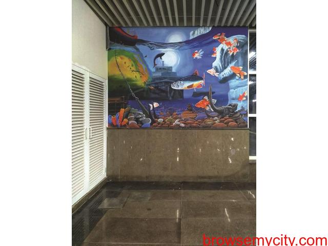 Wall Art | Graffiti Walls | Theme Wall Painting | Wall Murals | Street Art in Delhi NCR - 1/6