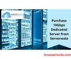 Purchase 10Gbps Dedicated Server from Serverwala