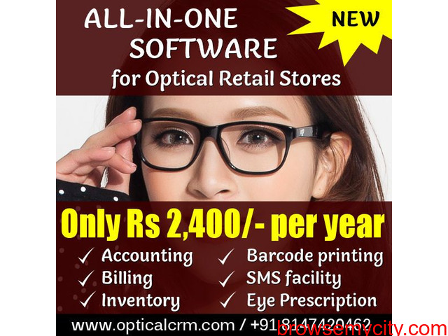 Optical CRM Software for retail stores - 2/6