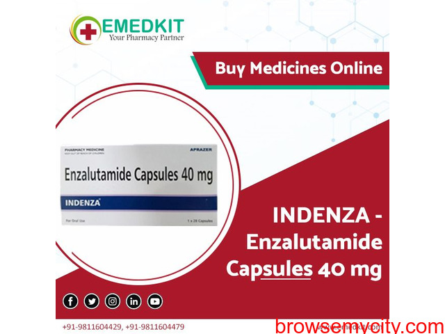 Buy Enzalutamide Capsules 40 mg Tablet from India - Emedkit - 1/1