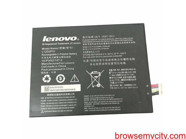 Batterie originale Lenovo 1ICP556120-2, L11C2P31, L11C2P32, L12D2P31 3.7V 6340mAh - 1/1