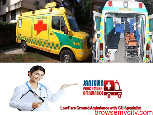 Obtain Ventilator Ambulance Service in Mokama with Impressive Medical Support - 1/1