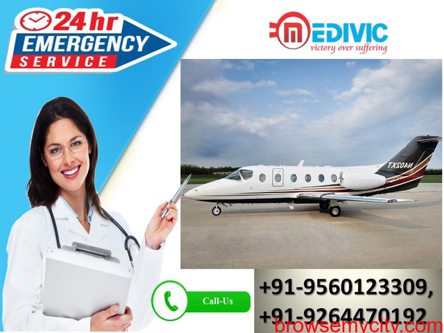 Book Cost-Effective Air Rescue by Medivic Air Ambulance Service in Kolkata - 1/1