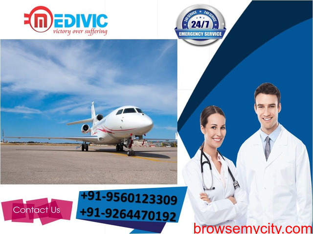 Take 24/7 Hours Quick Shifting by Medivic Air Ambulance Service in Ranchi - 1/1