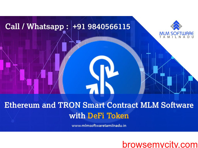 Ethereum and TRON Smart Contract MLM Software with DeFi Token-MLM software Tamilnadu - 1/1